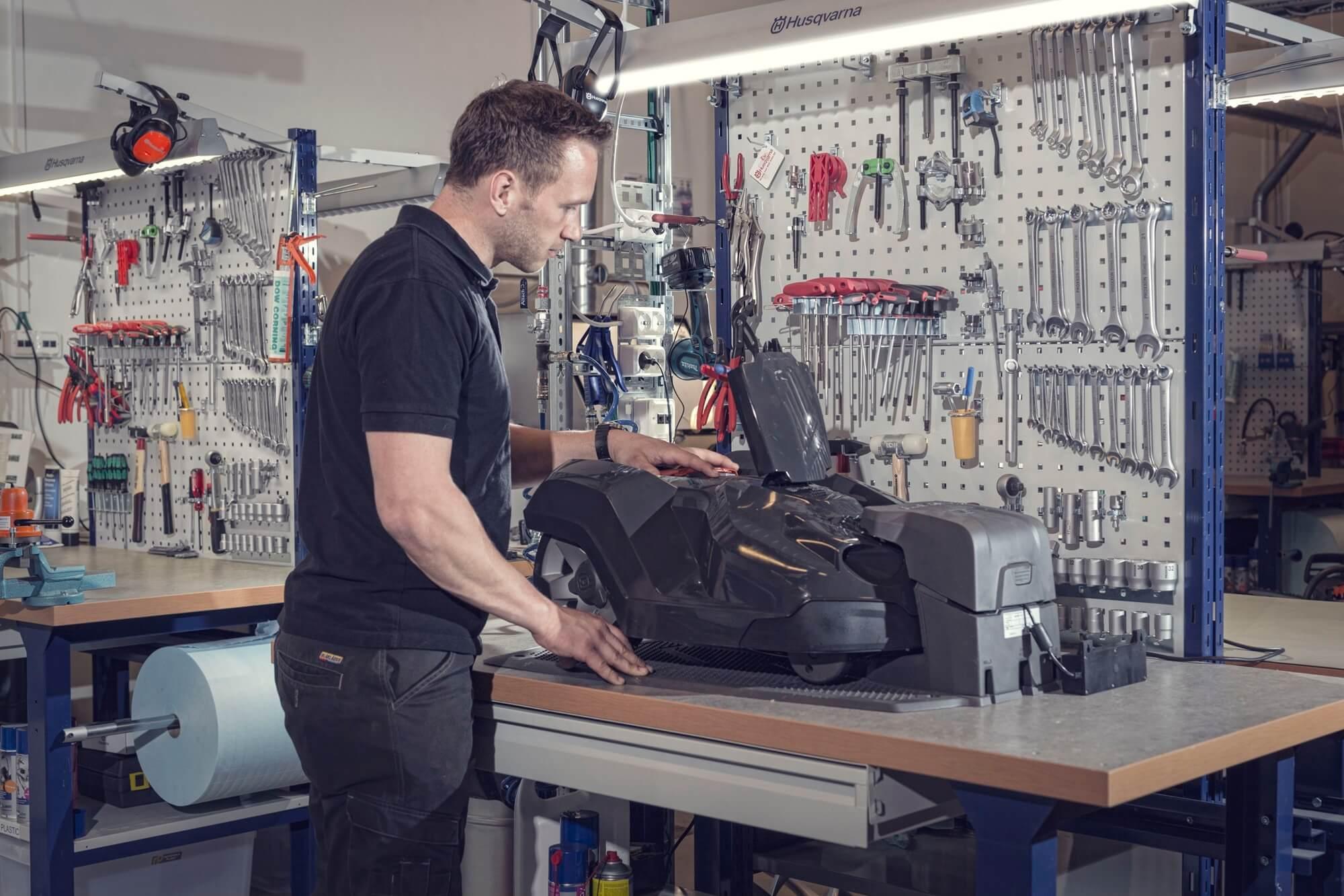 entretien tondeuse robot