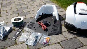 installation robot tondeuse husqvarna